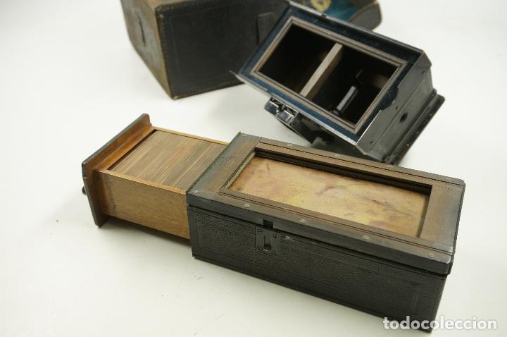 Cámara de fotos: cámara estereoscópica Gaumont grand prix, para placas de cristal 9x13 cm. - Foto 8 - 99617211