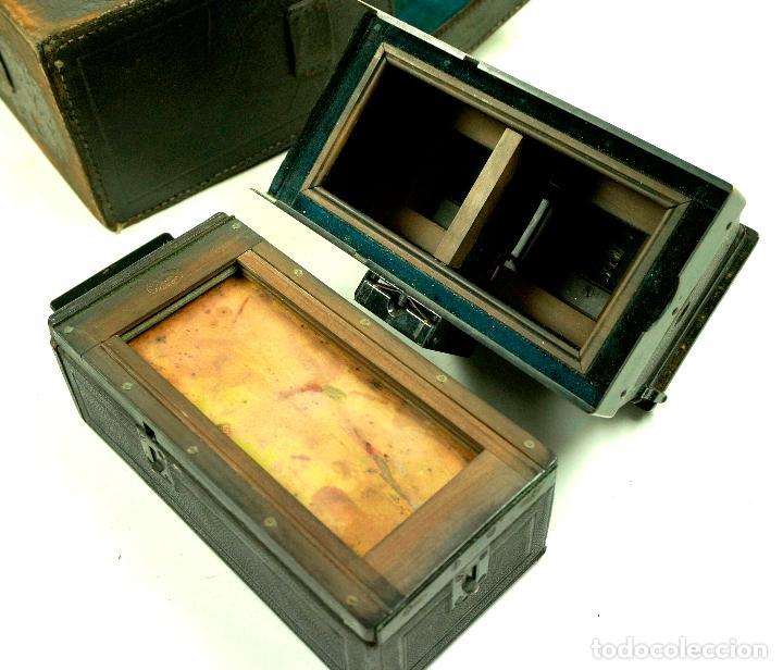 Cámara de fotos: cámara estereoscópica Gaumont grand prix, para placas de cristal 9x13 cm. - Foto 9 - 99617211