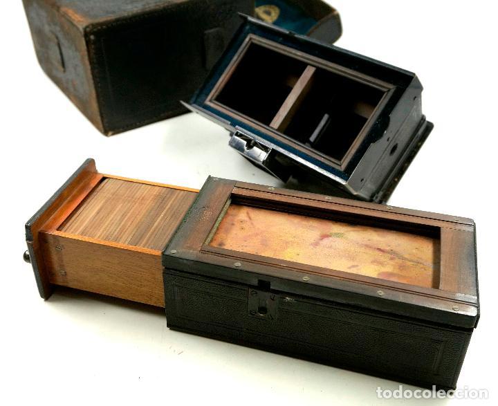 Cámara de fotos: cámara estereoscópica Gaumont grand prix, para placas de cristal 9x13 cm. - Foto 11 - 99617211
