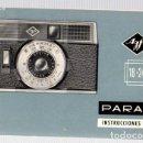 Cámara de fotos: INSTRUCCIONES DE EMPLEO CAMARA FOTOGRAFICA PARAMAT. AGFA. TYPO 2435. 18X24. AÑOS 60. Lote 99650523