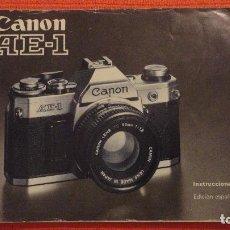 Cámara de fotos: ANTIGUO MANUAL DE INSTRUCCIONES.CAMARA CANON AE-1.EN ESPAÑOL.1979. Lote 99903515