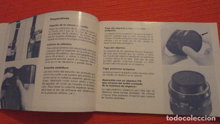 Cámara de fotos: ANTIGUO MANUAL DE INSTRUCCIONES.CAMARA CANON AE-1.EN ESPAÑOL.1979 - Foto 6 - 99903515