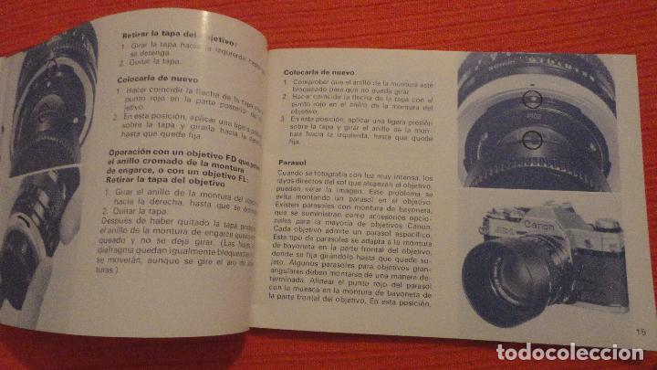 Canon ae-1 manual de instrucciones
