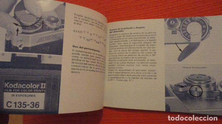 Cámara de fotos: ANTIGUO MANUAL DE INSTRUCCIONES.CAMARA CANON AE-1.EN ESPAÑOL.1979 - Foto 8 - 99903515