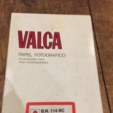 Cámara de fotos: PAPEL FOTOGRÁFICO VALCA. Lote 102523878