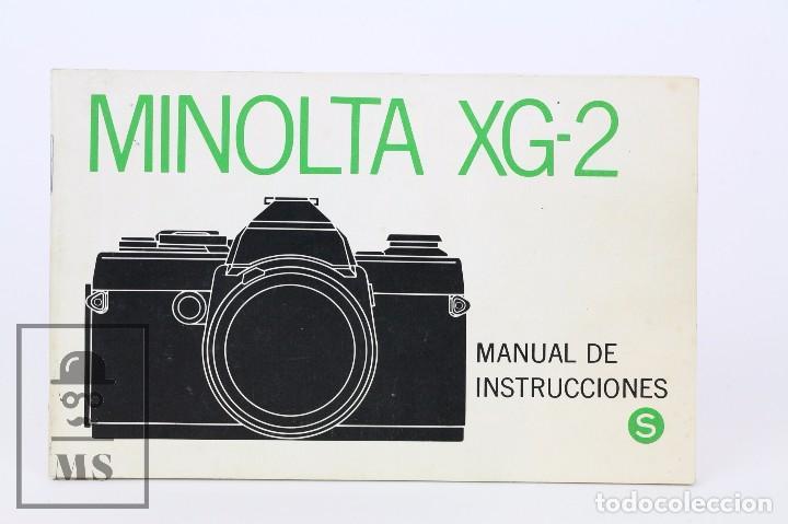 MANUAL DE USUARIO PARA CÁMARA / FOTOS - MINOLTA XG-2 - AÑO 1977 (Cámaras Fotográficas - Catálogos, Manuales y Publicidad)