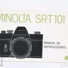 Appareil photos: MANUAL DE USUARIO PARA CÁMARA / FOTOS - MINOLTA SRT-T 101 - AÑOS 70 . Lote 103054051