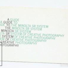 Cámara de fotos: MANUAL DE USUARIO PARA MINOLTA / FOTOS - GUIA MINOLTA SR SYSTEM - EN INGLES - AÑOS 70 . Lote 103054271
