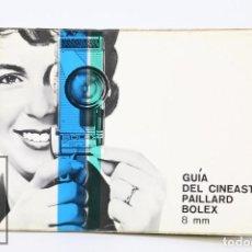 Cámara de fotos: MANUAL DE USUARIO PARA CÁMARA / FOTOS - GUÍA DEL CINEASTA PAILLARD BOLEX 8 MM - AÑO 1963. Lote 103054811