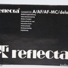 Cámara de fotos: MANUAL DE USUARIO PARA CÁMARA / FOTOS - REFLECTA A/AF/AF-MC/ DELUX - AÑOS 70. Lote 103055179