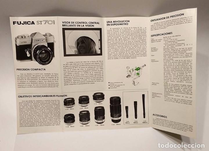 Cámara de fotos: antiguo folleto publicitario camara fujica st 701 fuji film fujifilm v - Foto 3 - 103228003
