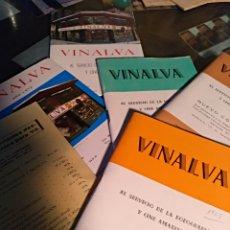 Cámara de fotos: 5 CATALOGOS VINALVA. Lote 103722919
