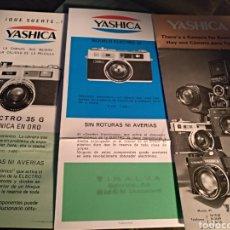 Cámara de fotos: 3 CATÁLOGOS YASHICA. Lote 103723168