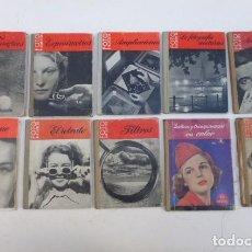 Cámara de fotos: 8 MANUALES FOTO BIBLIOTECA..USADOS, BUEN ESTADO EN GENERAL. AÑOS 60. . Lote 103757111