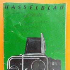 Cámara de fotos: REVISTA, CATALOGO HASSELBLAD - 1974, EN CASTELLANO... R- 7770. Lote 108780264