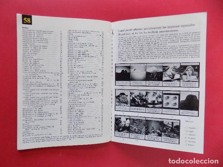 Cámara de fotos: REVISTA, CATALOGO HASSELBLAD - 1976, EN CASTELLANO... R- 7772 - Foto 5 - 108779904