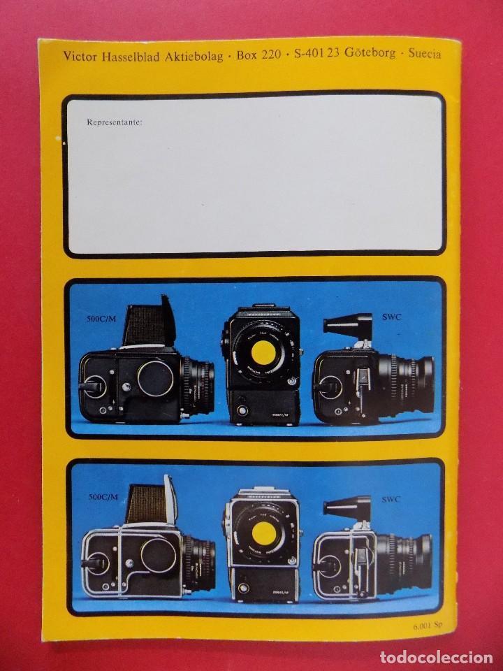 Cámara de fotos: REVISTA, CATALOGO HASSELBLAD - 1976, EN CASTELLANO... R- 7772 - Foto 6 - 108779904