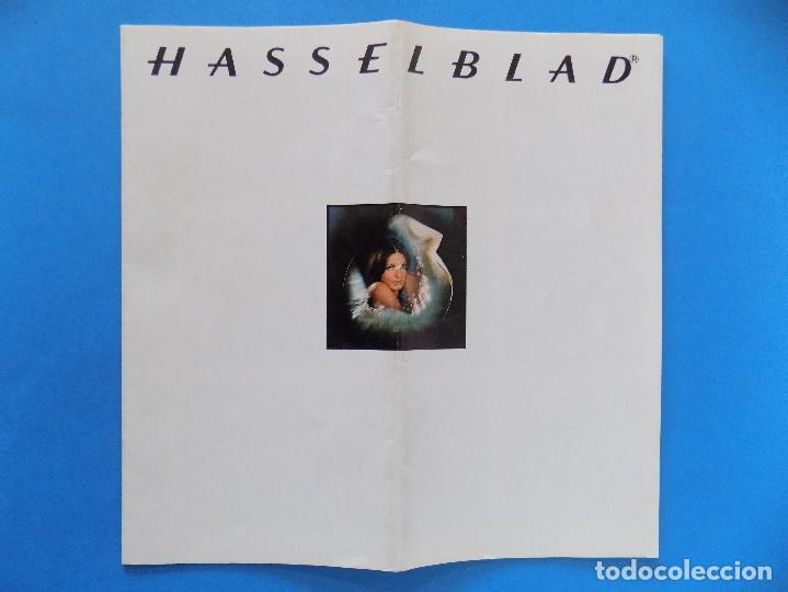 HASSELBLAD - PUBLICIDAD, FOLLETO PLEGABLE - 1974 EN CASTELLANO... R- 7774 (Cámaras Fotográficas - Catálogos, Manuales y Publicidad)