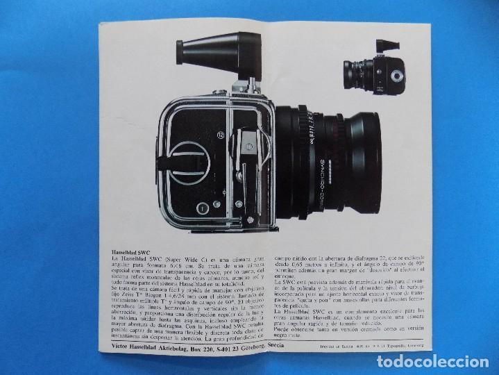 Cámara de fotos: HASSELBLAD - PUBLICIDAD, FOLLETO PLEGABLE - 1974 EN CASTELLANO... R- 7774 - Foto 4 - 104141655