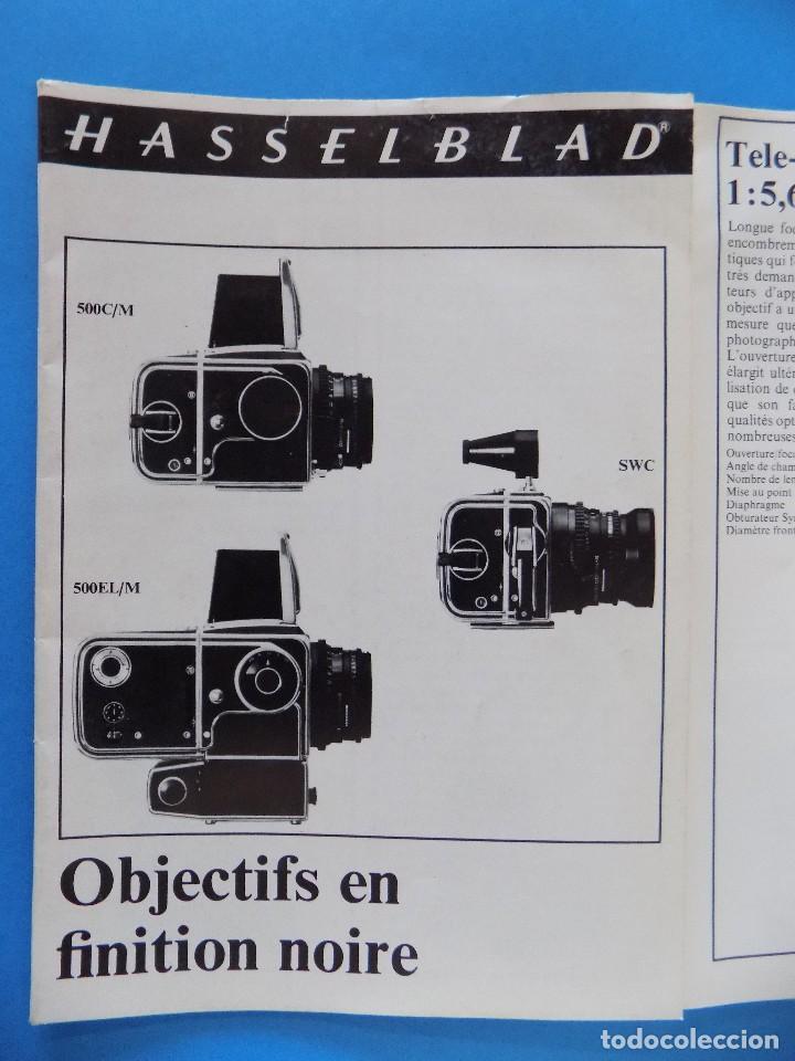 HASSELBLAD - PUBLICIDAD, FOLLETO PLEGABLE - 1973, EN FRANCES... R- 7775 (Cámaras Fotográficas - Catálogos, Manuales y Publicidad)
