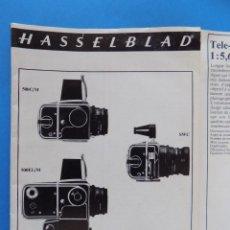 Cámara de fotos: HASSELBLAD - PUBLICIDAD, FOLLETO PLEGABLE - 1973, EN FRANCES... R- 7775. Lote 104143459