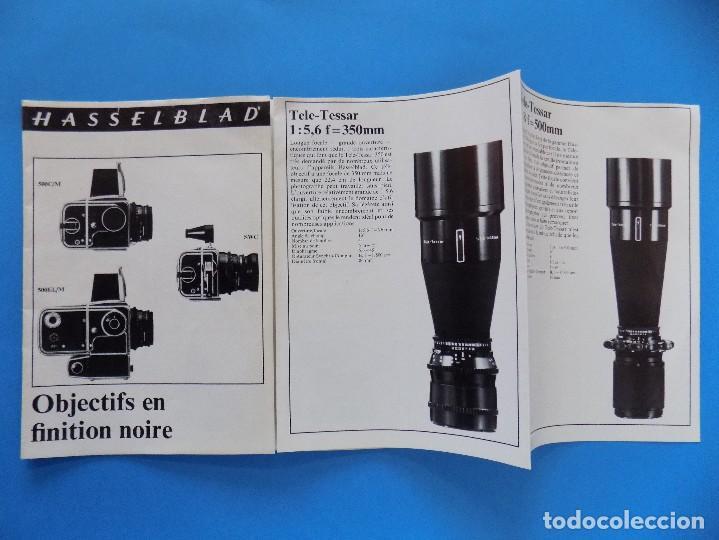 Cámara de fotos: HASSELBLAD - PUBLICIDAD, FOLLETO PLEGABLE - 1973, EN FRANCES... R- 7775 - Foto 2 - 104143459