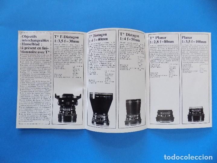 Cámara de fotos: HASSELBLAD - PUBLICIDAD, FOLLETO PLEGABLE - 1973, EN FRANCES... R- 7775 - Foto 3 - 104143459