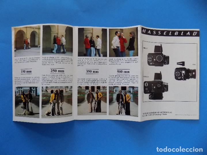 Cámara de fotos: HASSELBLAD - PUBLICIDAD, FOLLETO PLEGABLE - 1973, EN FRANCES... R- 7775 - Foto 4 - 104143459
