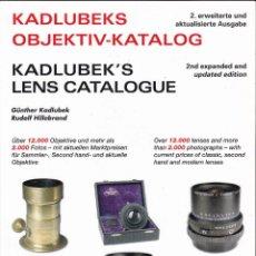 Cámara de fotos: CATÁLOGO KADLUBEKS LENS KATALOG. 12 000 LENTES. 375 PÁGINAS. MULTI-IDIOMAS. Lote 105082791