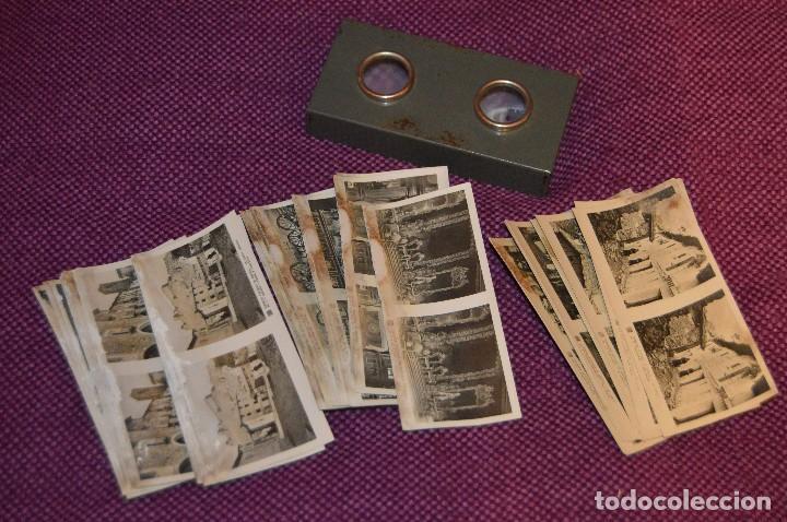 ANTIGUO ESTEREOSCÓPICO VISOR RELLEY - CON 3 SERIES DE IMÁGENES - MUY ANTIGUO - HAZ OFERTA (Cámaras Fotográficas - Visores Estereoscópicos)