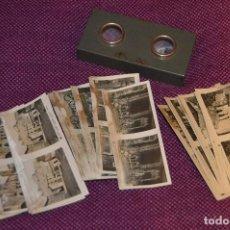 Cámara de fotos: ANTIGUO ESTEREOSCÓPICO VISOR RELLEY - CON 3 SERIES DE IMÁGENES - MUY ANTIGUO - HAZ OFERTA. Lote 147770545
