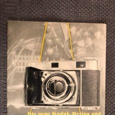 Cámara de fotos: MANUAL CÁMARA FOTOGRAFÍCA KODAK-RETINA (H.1950?). Lote 106961871