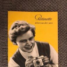 Cámara de fotos: MANUAL DE INSTRUCCIONES KODAK RETINETTE (H.1950?). Lote 106962278