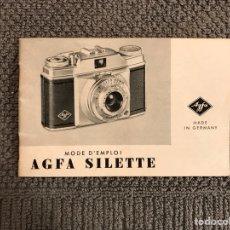 Cámara de fotos: MANUAL CÁMARA FOTOGRÁFICA AGFA SILETTE (H.1950?). Lote 106963186