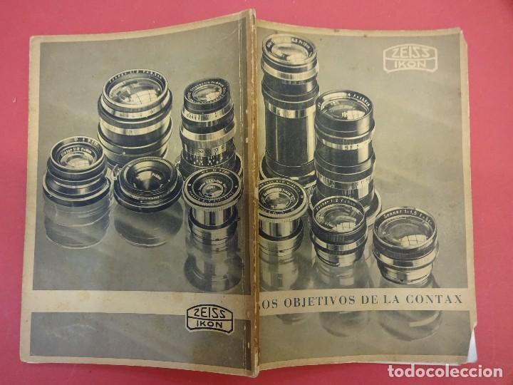 ZEISS IKON. CATÁLOGO OBJETIVOS DE LA CONTAX. ORIGINAL AÑOS 1930 (Cámaras Fotográficas - Catálogos, Manuales y Publicidad)