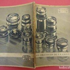 Cámara de fotos - ZEISS IKON. Catálogo objetivos de la CONTAX. Original años 1930 - 107222939