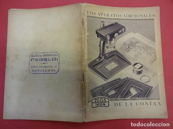 ZEISS IKON. CATÁLOGO LOS APARATOS ADICIONALES DE LA CONTAX. ORIGINAL AÑOS 1930 (Cámaras Fotográficas - Catálogos, Manuales y Publicidad)