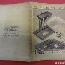 Cámara de fotos: ZEISS IKON. CATÁLOGO LOS APARATOS ADICIONALES DE LA CONTAX. ORIGINAL AÑOS 1930. Lote 171636358