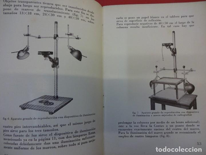 Cámara de fotos: ZEISS IKON. Catálogo Los aparatos adicionales de la CONTAX. Original años 1930 - Foto 2 - 107223279