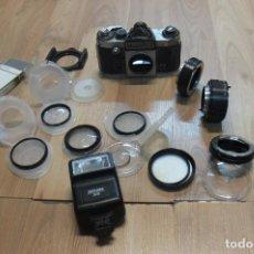 Cámara de fotos: CAMARA PRAKTICA-ADAPTADORES-FILTROS-FLASH. Lote 107312659