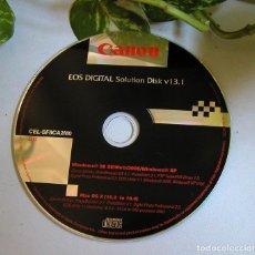 Cámara de fotos: CD DVD CANON EOS DIGITAL SOLUTION DISK V13.1 CONTIENE VARIAS APLICACIONES Y SOFTWARE. Lote 108379979