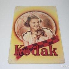 Cámara de fotos: PUBLICIDAD KODAK Nº 6 - BONITA Y DECORATIVA RÉPLICA EN CHAPA - METAL - MEDIDAS 30X40 APROX.. Lote 108394555