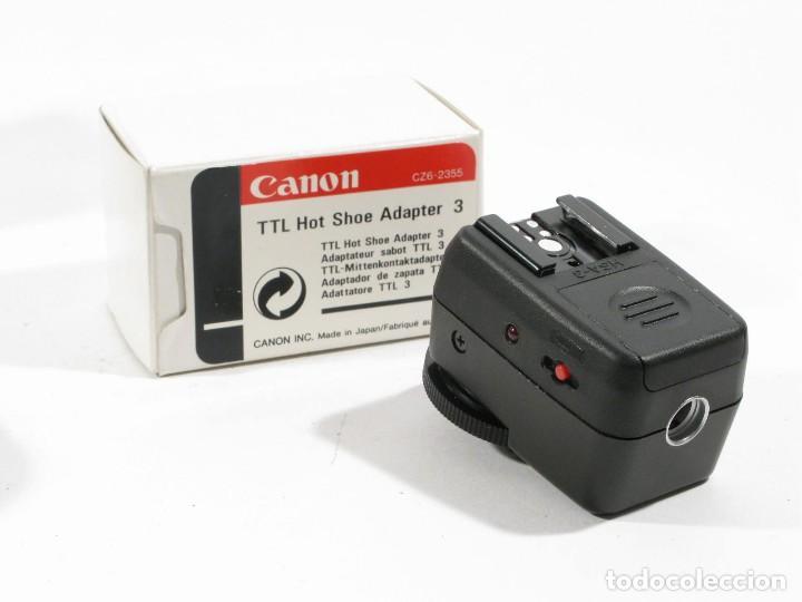 Cámara de fotos: ADAPTADOR CANON EOS TTL HOT SHOE ADAPTER 3 Y CONNECTING CORD 300 - Foto 3 - 108403291