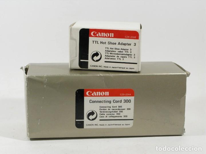 Cámara de fotos: ADAPTADOR CANON EOS TTL HOT SHOE ADAPTER 3 Y CONNECTING CORD 300 - Foto 5 - 108403291