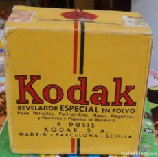 Cámara de fotos: KODAK, CAJA 6 DOSIS REVELADOR ESPECIAL EN POLVO, PRECINTADA. Lote 109538211