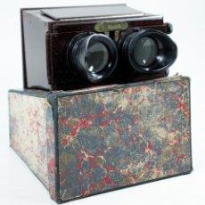 Cámara de fotos: VISOR ESTEREOSCÓPICO PLANOX ÓPTICA DESCENTRABLE EN ESTUCHE DE ORIGEN. PARA CRISTALES 6X13CM.. Lote 110626451