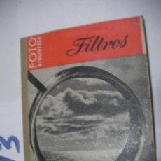Cámara de fotos: ANTIGUO LIBRO FOTOGRAFIA - FILTROS. Lote 112160559