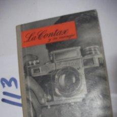 Cámara de fotos - ANTIGUO LIBRO FOTOGRAFIA - LA CONTAX - 112161283