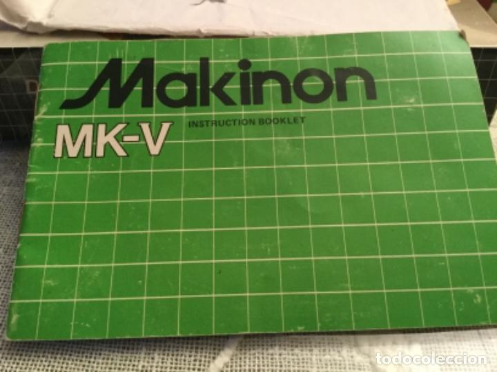 MANUAL MÁQUINA MAKINON MK- V (Cámaras Fotográficas - Catálogos, Manuales y Publicidad)