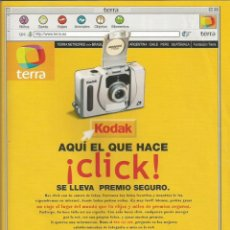 Cámara de fotos: PUBLICIDAD KODAK TERRA. Lote 112937579